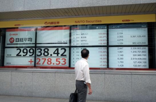 亚洲股市攀升 但恒大困境阴云密布